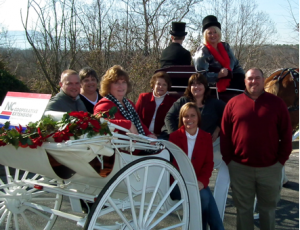 Burke County Cooperative Extension staff photo on carriage