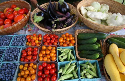 fresh produce at farmers' market