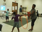Tamika working with youth