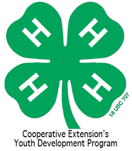 4-H Clover with tag line 2012