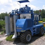 Commercial berry harvester
