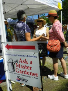 'Ask a Master Gardener' tent at the NC Blueberry Festival