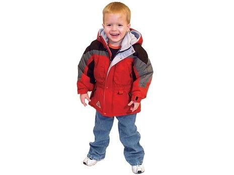 Kid in coat