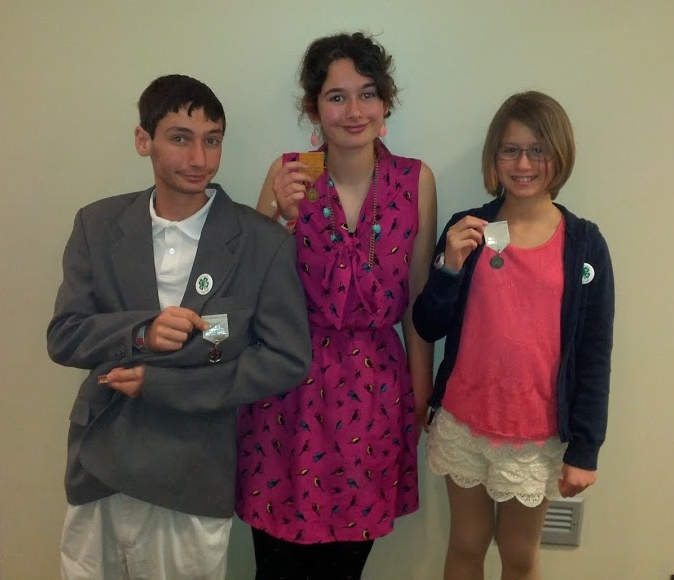 2013 4-H North Central District Activity Day - Noble LaRocco Masi, Anna LaRocco Masi, and Abby Johnson, left to right