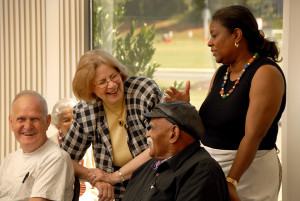 Jackie Mcclelland works with older adults in nutrition program.