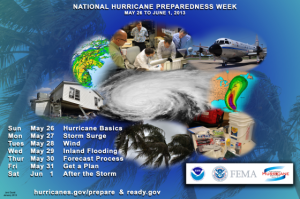 Hurricane Preparedness Week Poster