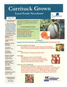 Currituck Grown Local Foods August 2013