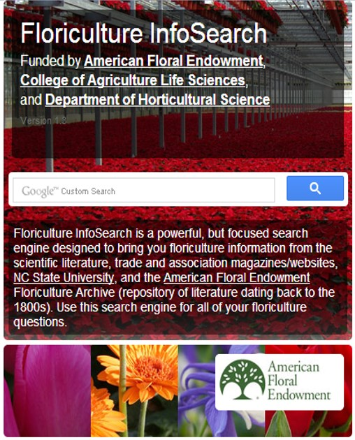 Floriculture InfoSearch Website