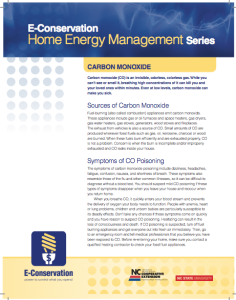 Home Energy Management Carbon Monoxide factsheet
