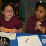 Children eating health snacks