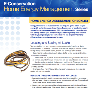 Home Energy Assessment checklist image