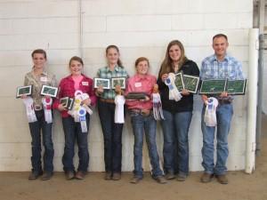 Livestock Judging Team with Awards_11-22-13