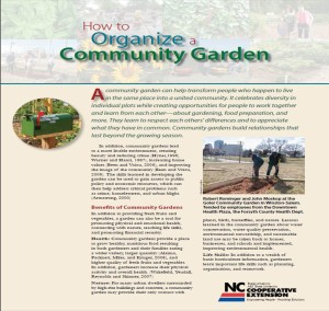 Cover of Community Gardening Publication