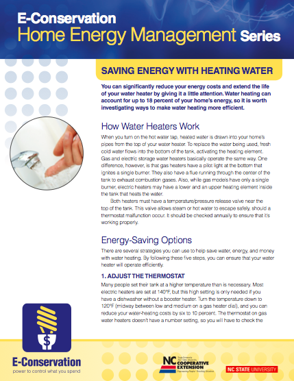 Saving Energy with Heating Water image