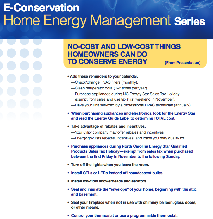 Home Energy Management factsheet