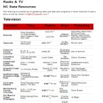 TV Radio schedule