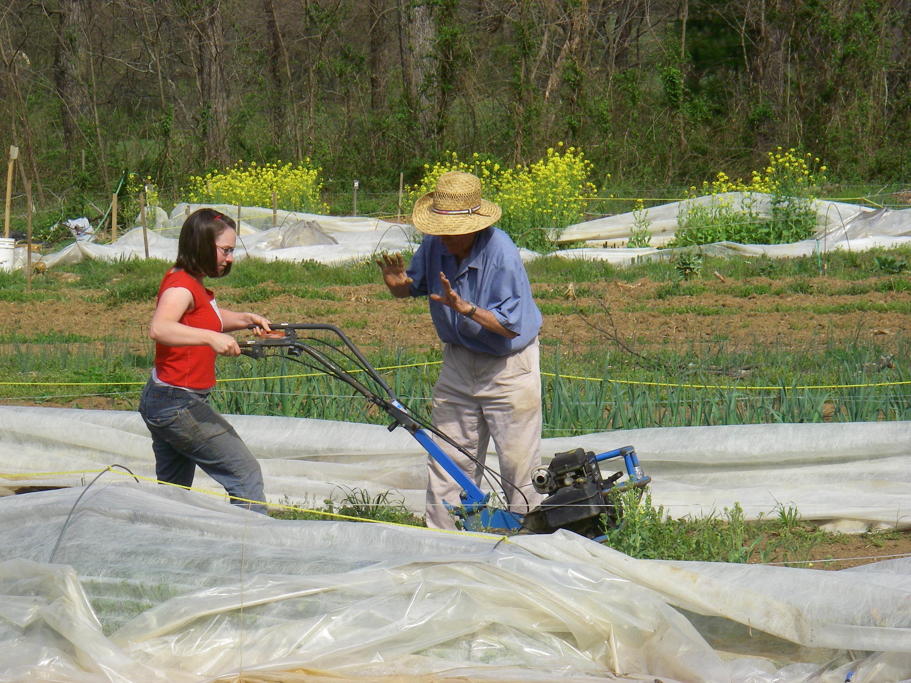 Dr. Wilson shows Kristen how to use the tillerImage by Dianna Schmitt McCall