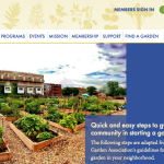 The American Community Garden Association (AGCA) supports community gardening by facilitating the formation and expansion of state and regional community gardening networks; developing resources in support of community gardening; and, encouraging research and conducting educational programs.
