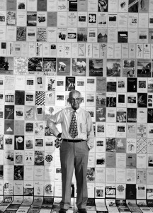 Ira O. Schaub, surrounded by extension publications near the time of his 1950 retirement as director of what was then known as the North Carolina Agricultural Extension Service.