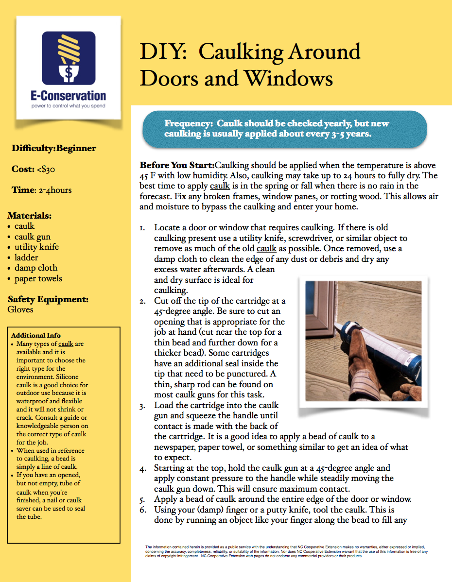 DIY Caulking Doors and Windows