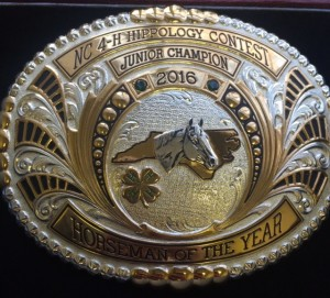 2016 Jr Horseman of the Year Buckle
