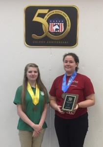 Allie Akers (Granville) and Rebekah Taylor (Brunswick) 3rd and 1st in Individual Presentation.