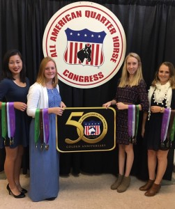 L to R: Grace Conerly (Chatham), Grace Huneycutt (Stanly), Sarah Isley (Unionr), Kaylyn Gise (Union)