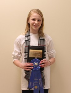 High Individual Junior Judging- Hannah Moscawics, Wake County