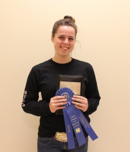 High Judging Senior Individual- Megan Downs, Johnston County