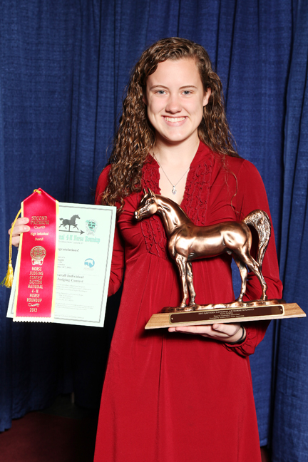 MaeLena Horse Judging Overall Reserve Champion Individual