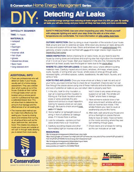 DIY - Detecting Air Leaks