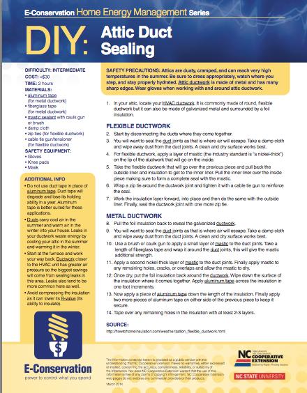 DIY - Attic Duct Sealing