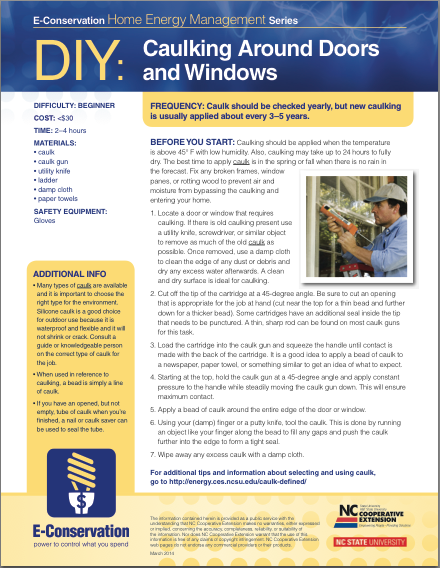 DIY - Caulking Around Doors and Windows
