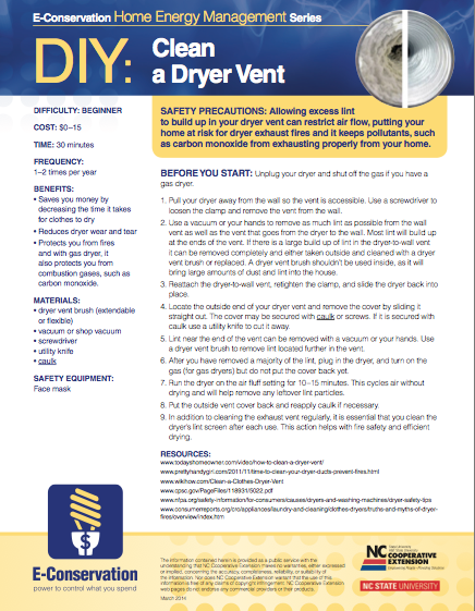 DIY - Clean a Dryer Vent