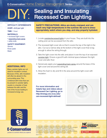 DIY - Sealing and Insulating Recessed Can Lighting