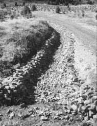 Proper road and draniage construction prevents erosio
