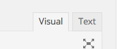 Screenshot of Visual/Text tabs in WordPress