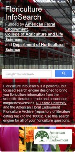 Floriculture InfoSearch