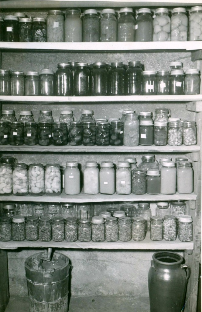 Cellar of canned goods