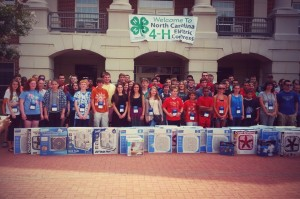 NC 4-H members donate fans to the Council on Aging in Jackson County, NC.