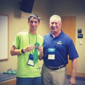 Noble LaRocco Masi receives recruiter award from Duke Energy Progress.