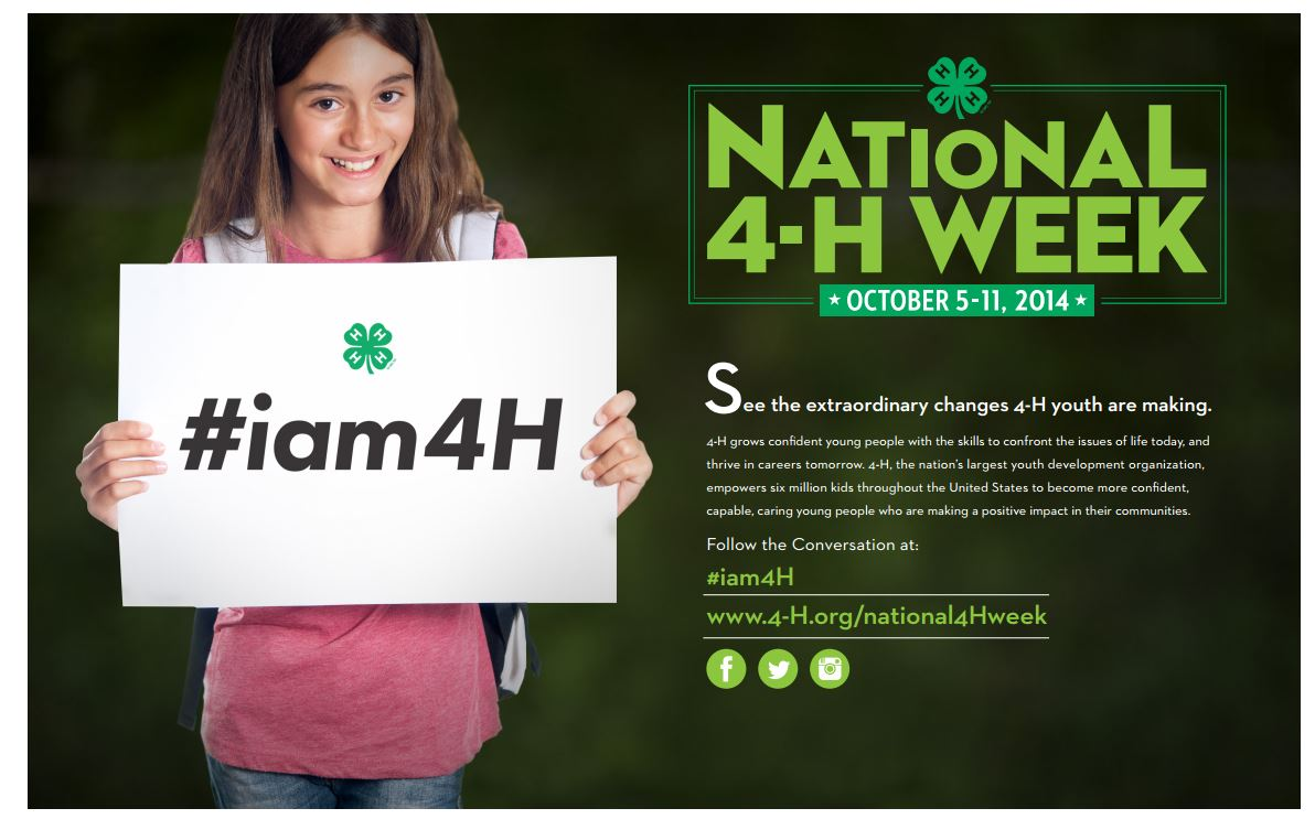 National 4-H Week October 5th-11th | North Carolina ...