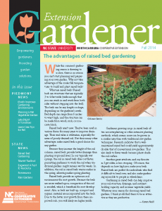 Fall Extension Gardener Newsletter Now Available North Carolina
