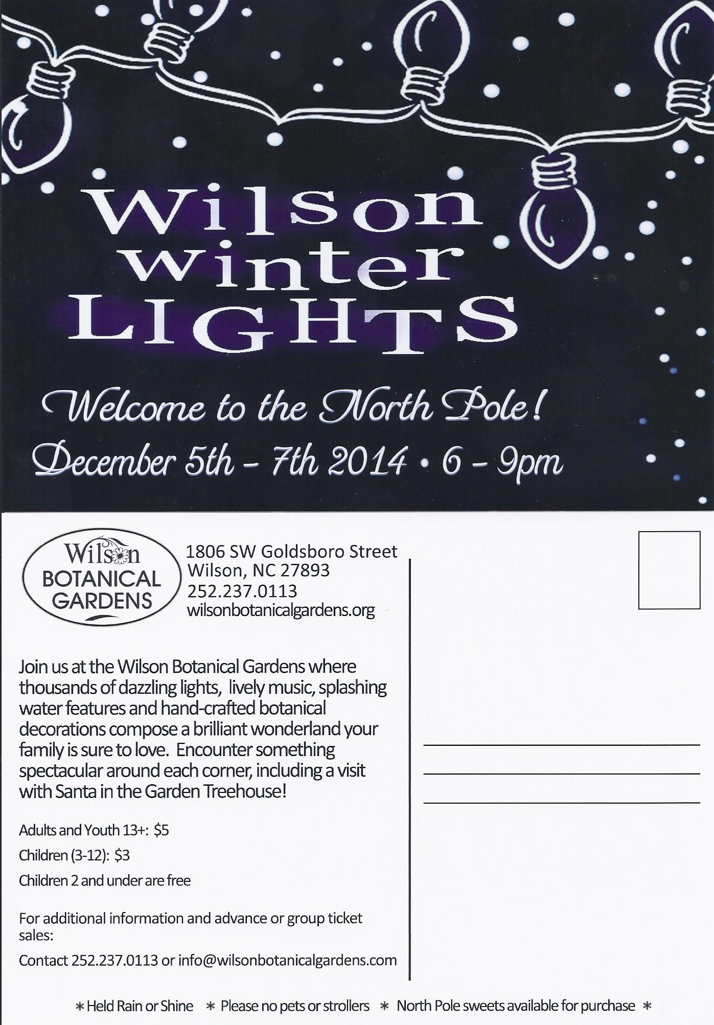 wilson winter lights north carolina cooperative extension