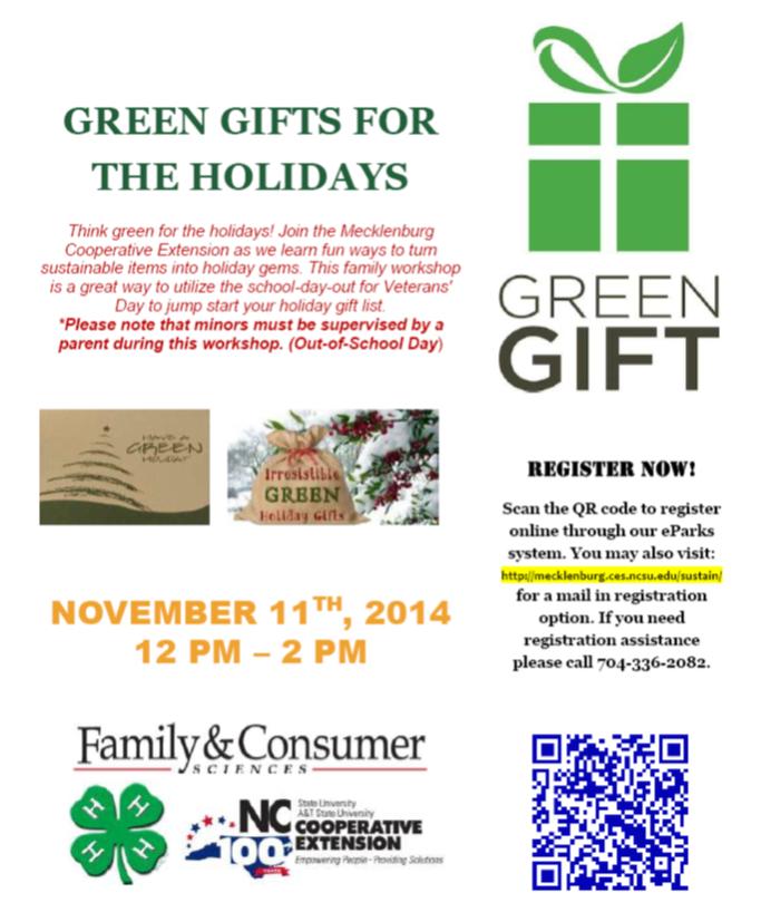 Green Gifts Program Flyer