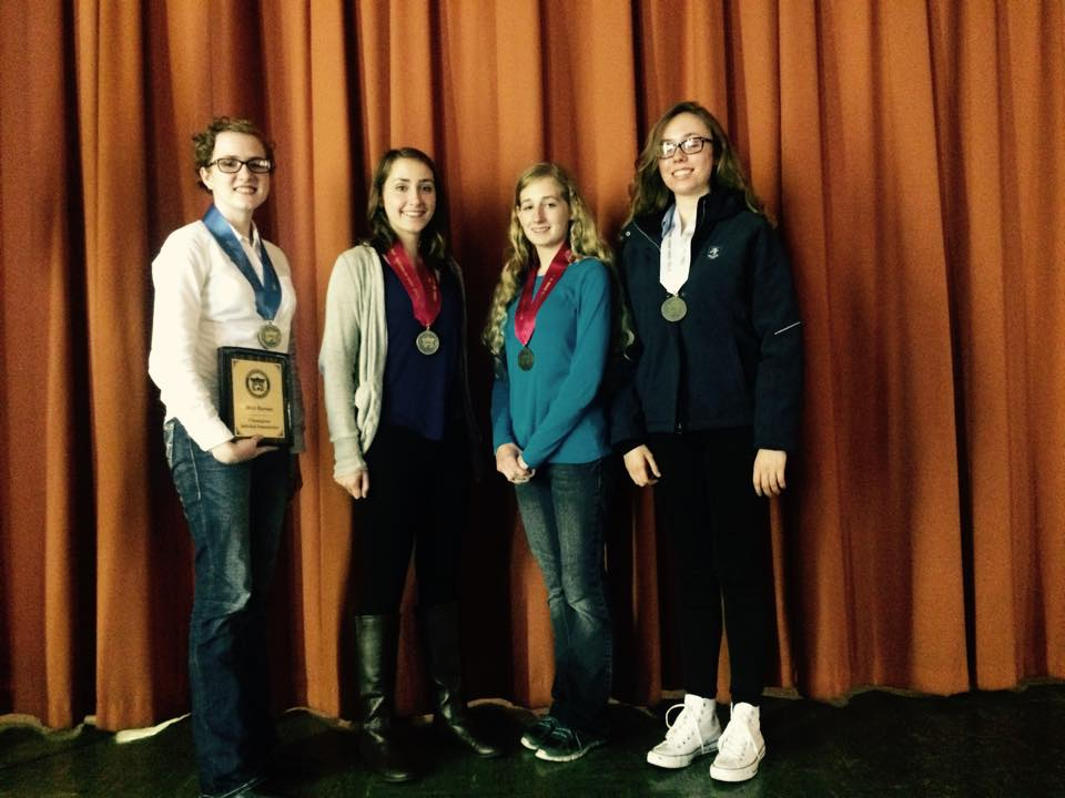 NC 4-H'ers win awards in the Quarter Horse Congress Communications Contests. L to R: Bradley Kay, Julie Dickerson, Kirsten Gregory and Katriana VonWindheim