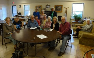 Local photographer, Larry Klug, recently taught a photography class at the Swain County Senior Center. (Left to Right) First Row: Laverne Crawford, Mary Hintz, Charlie King, Gail Barker, Dee Decker and Larry Klug. Second Row: Jeanette Frady, Essie Wiggins. Standing: Pete Gibson, Wanda Cole, Galena Alison. Seated on Couch: Willie Mae Gunter.