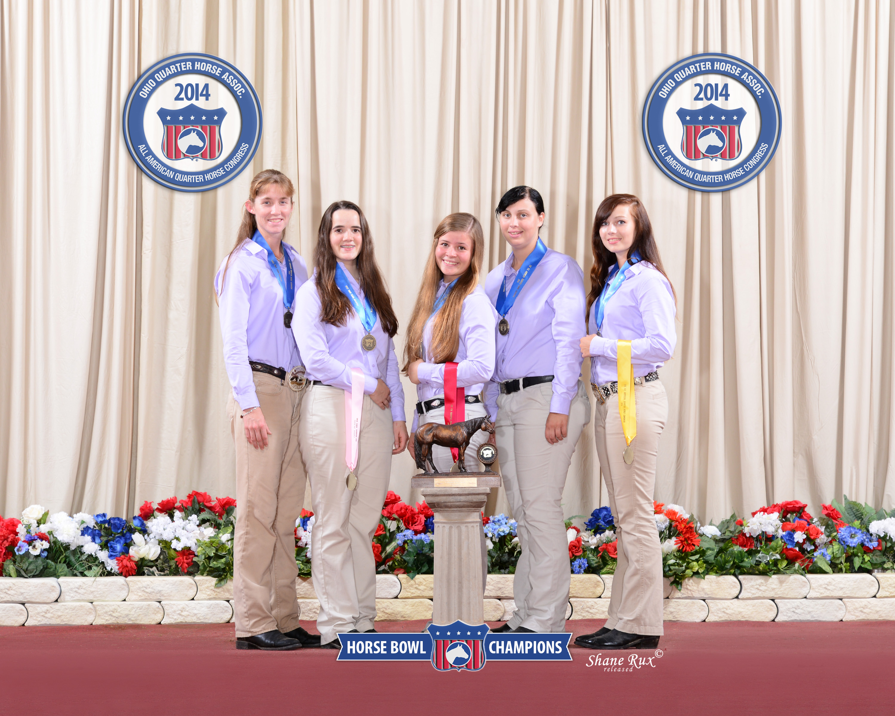 Congress Horsebowl Champions. L to R: Lindsay Riddell, Alexandria Knudson, Rachel Rezin, Tori Gwaltney and Hannah Sather.