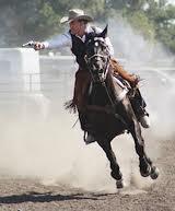 cowboy mounted shooting image