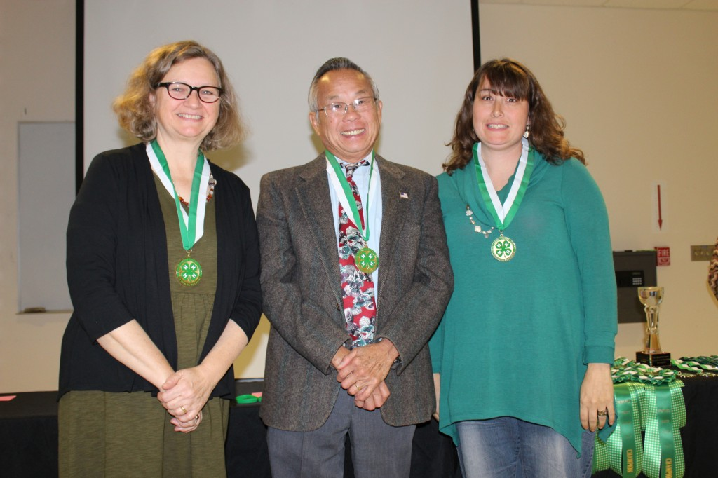 From Left to Right Jane Kulesza (4-H Volunteer of the Year and Governor Volunteer Award Recepient) George Won-Chong and Trisha Apple (4-H Volunteers Governor Volunteer Award Recepient )